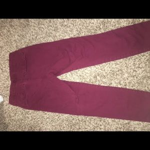 Maroon Pixie pants from Old Navy